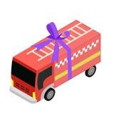 Isometric δίκαιο εικονίδιο φορτηγών Στοκ φωτογραφίες με δικαίωμα ελεύθερης χρήσης