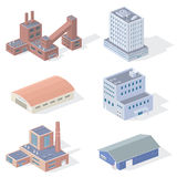 Isometric βιομηχανικά κτήρια Στοκ Φωτογραφίες