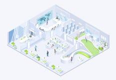 Isometric διάνυσμα Modern Business Company γραφείων απεικόνιση αποθεμάτων