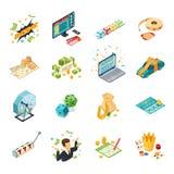 Isometric εικονίδια λαχειοφόρων αγορών καθορισμένα ελεύθερη απεικόνιση δικαιώματος