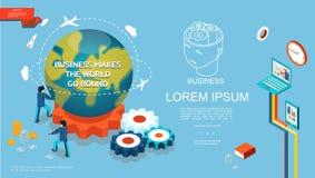 Isometric επιχειρησιακό ζωηρόχρωμο πρότυπο απεικόνιση αποθεμάτων