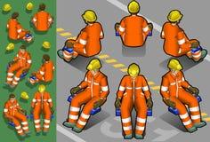 isometric εργασία ατόμων απεικόνιση αποθεμάτων