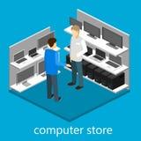 Isometric εσωτερικό του καταστήματος υπολογιστών Στοκ εικόνες με δικαίωμα ελεύθερης χρήσης