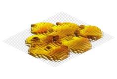 Isometric διανυσματική γραφική παράσταση Στοκ Εικόνες