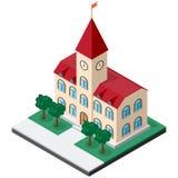 Isometric κτήριο Δημαρχείων Στοκ φωτογραφία με δικαίωμα ελεύθερης χρήσης