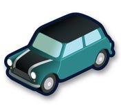 Isometric μίνι αυτοκίνητο Moris Στοκ εικόνα με δικαίωμα ελεύθερης χρήσης