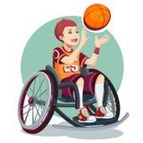 Isometric ολυμπιακός για τους λαούς με την εκτός λειτουργίας δραστηριότητα Παιδί παιχνίδια paralympic Στοκ Εικόνες