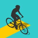 Isometric ποδηλάτης σκιαγραφιών Στοκ Εικόνα