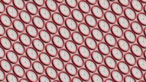 Isometric σειρά απλών κόκκινων ρολογιών απεικόνιση αποθεμάτων