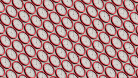 Isometric σειρά απλών κόκκινων ρολογιών Στοκ εικόνα με δικαίωμα ελεύθερης χρήσης