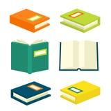 Isometric σημάδια και σύμβολα βιβλίων Στοκ Φωτογραφία