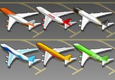 isometric στολή έξι αεροπλάνων διανυσματική απεικόνιση