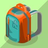 Isometric σχολική τσάντα σακιδίων πλάτης Στοκ Εικόνες