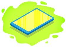 Isometric σύγχρονη ταμπλέτα αφής ελεύθερη απεικόνιση δικαιώματος