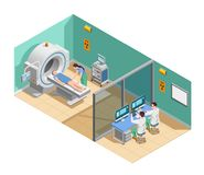 Isometric σύνθεση ιατρικής εξέτασης απεικόνιση αποθεμάτων