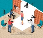 Isometric σύνθεση συνόδου φωτογραφιών ελεύθερη απεικόνιση δικαιώματος