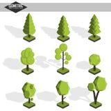 Isometric σύνολο δέντρων Διανυσματική απεικόνιση
