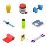 Isometric σύνολο εικονιδίων ικανότητας, κινητά αντικείμενα Στοκ φωτογραφίες με δικαίωμα ελεύθερης χρήσης