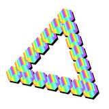 Isometric τρίγωνο ουράνιων τόξων που απομονώνεται Διανυσματική απεικόνιση