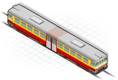 isometric τραίνο απεικόνιση αποθεμάτων