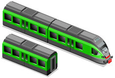 isometric τραίνο διανυσματική απεικόνιση