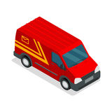 Isometric τρισδιάστατο van car φορτίο φορτηγών παράδοσης Στοκ φωτογραφία με δικαίωμα ελεύθερης χρήσης