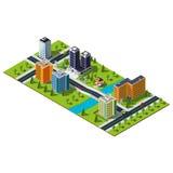 Isometric χάρτης πόλεων ελεύθερη απεικόνιση δικαιώματος