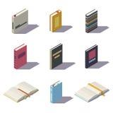 Isometric χαμηλά πολυ βιβλία Στοκ Εικόνα