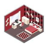 Isometric δωμάτιο Στοκ εικόνα με δικαίωμα ελεύθερης χρήσης