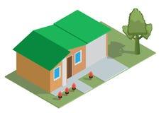 Όμορφο μικρό isometric σπίτι ελεύθερη απεικόνιση δικαιώματος