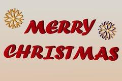 Isometric ύφος Χαρούμενα Χριστούγεννας στη διανυσματική απεικόνιση Στοκ Φωτογραφία