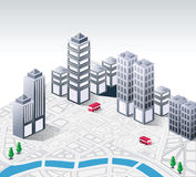 Isometric. Vector isometric fantasy on the theme of urban royalty free illustration