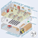 Isometric 3 level office Royalty Free Stock Image
