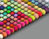 Isometric 3d balls in bright colors Royalty Free Stock Photos