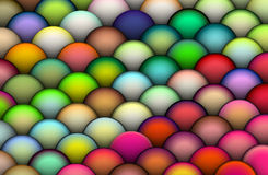 Isometric 3d balls in bright colors Royalty Free Stock Photo