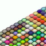 Isometric 3d balls in bright colors Stock Photo