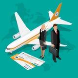 Isometric σύνθεση επιχειρησιακού ταξιδιού Υπόβαθρο ταξιδιού και τουρισμού Επίπεδη τρισδιάστατη διανυσματική απεικόνιση Σχέδιο εμβ Στοκ φωτογραφίες με δικαίωμα ελεύθερης χρήσης