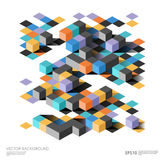 Isometric abstract background with geometric figures. Vector design layout for business presentations, web and app Royalty Free Stock Images