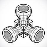Isometric abstract vector dimensional shape, polygonal figure. Modern geometric art illustration. n Stock Photos