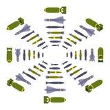 Isometric air bombs Royalty Free Stock Photos