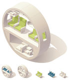 Isometric aircraft cabin cross-section Stock Images