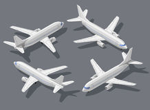 Isometric airplane 1 Stock Images