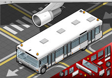 Isometric Airport Bus in Front View Royalty Free Stock Photo
