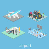Isometric airport scenes Royalty Free Stock Photography