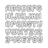Isometric alphabet Royalty Free Stock Images