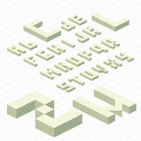 Isometric Alphabet Stock Photos