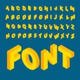 Isometric alphabet font Stock Photos