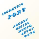 Isometric alphabet font. Royalty Free Stock Image