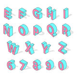 Isometric alphabet font isolated vector. Stock Photography
