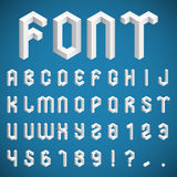 Isometric Alphabet and Numbers Stock Image